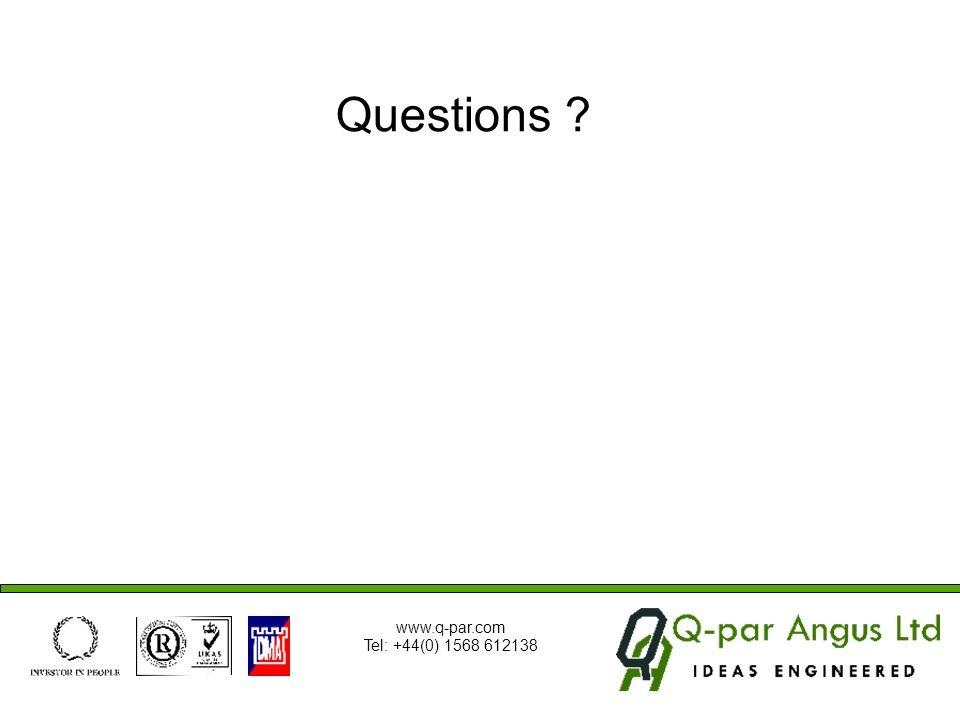 Questions www.q-par.com Tel: +44(0) 1568 612138