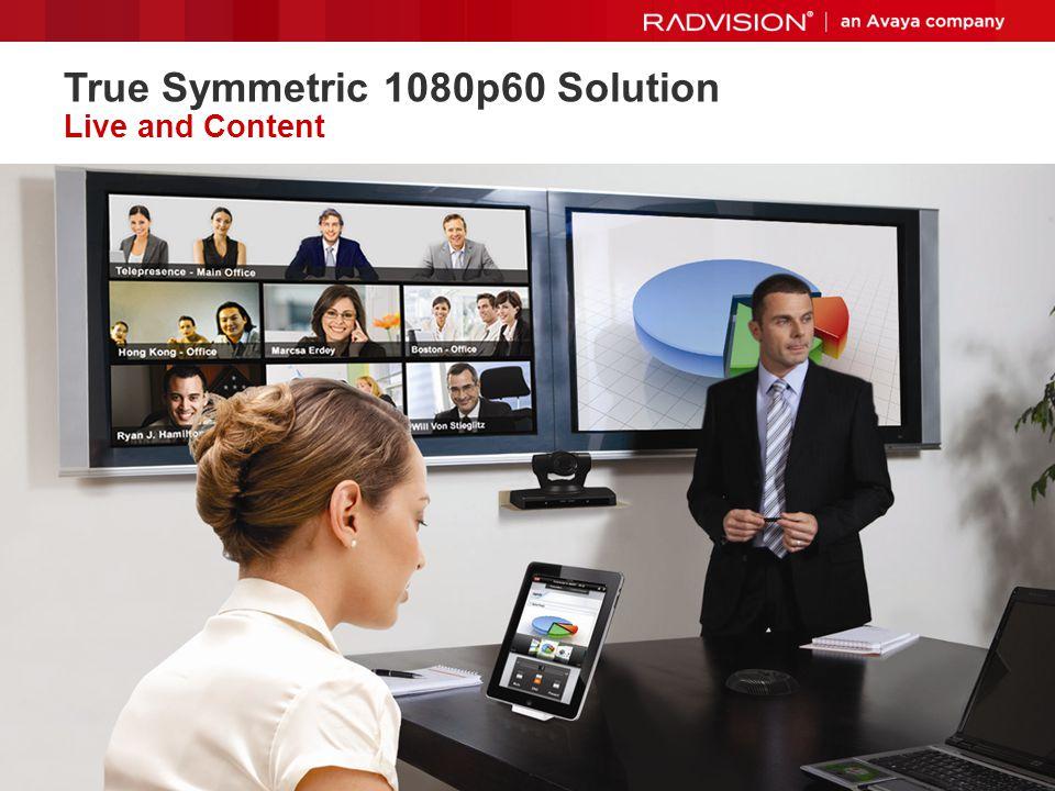 True Symmetric 1080p60 Solution Live and Content