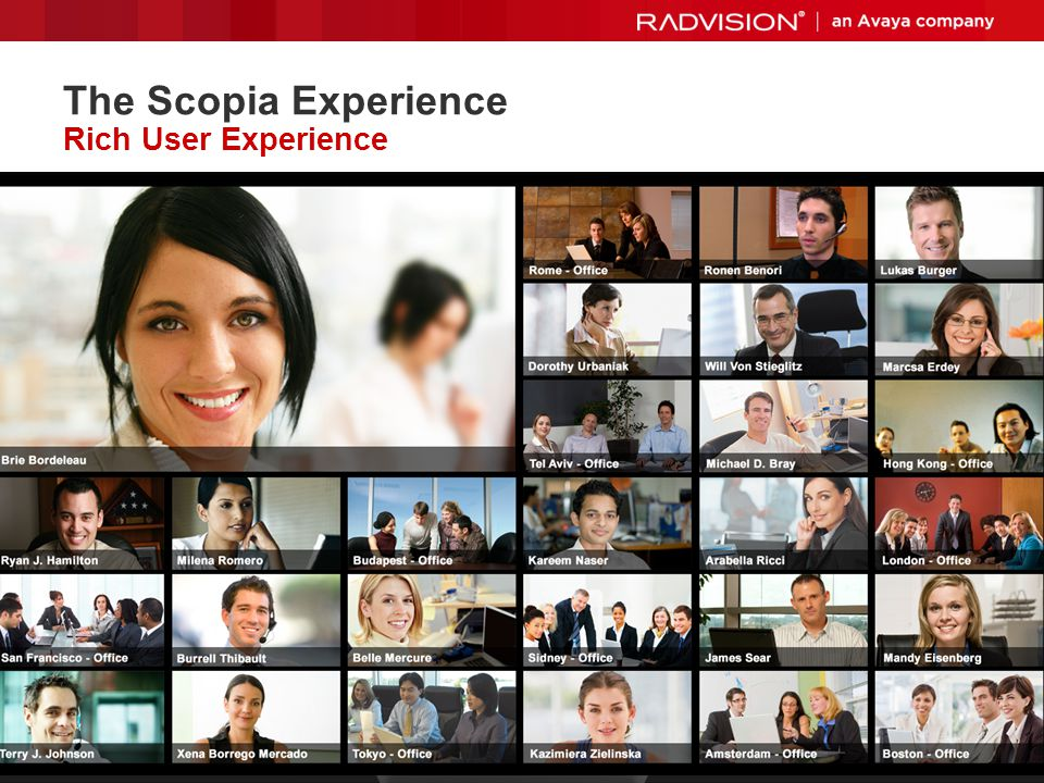 The Scopia Experience Rich User Experience