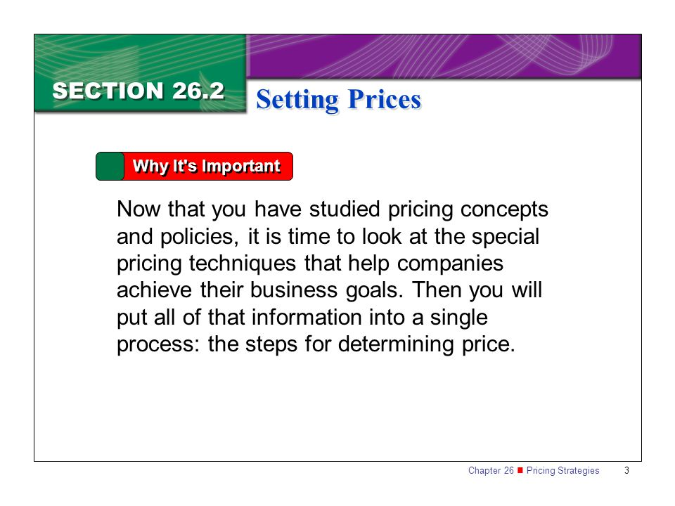 Setting Prices SECTION 26.2