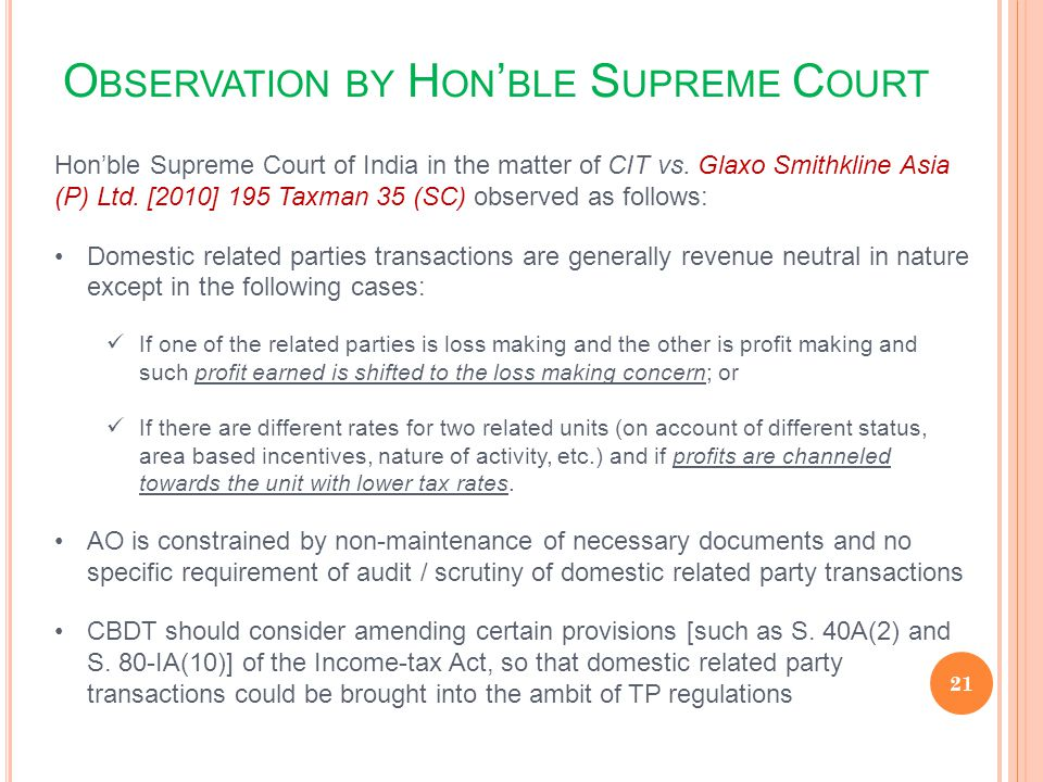 Observation by Hon'ble Supreme Court