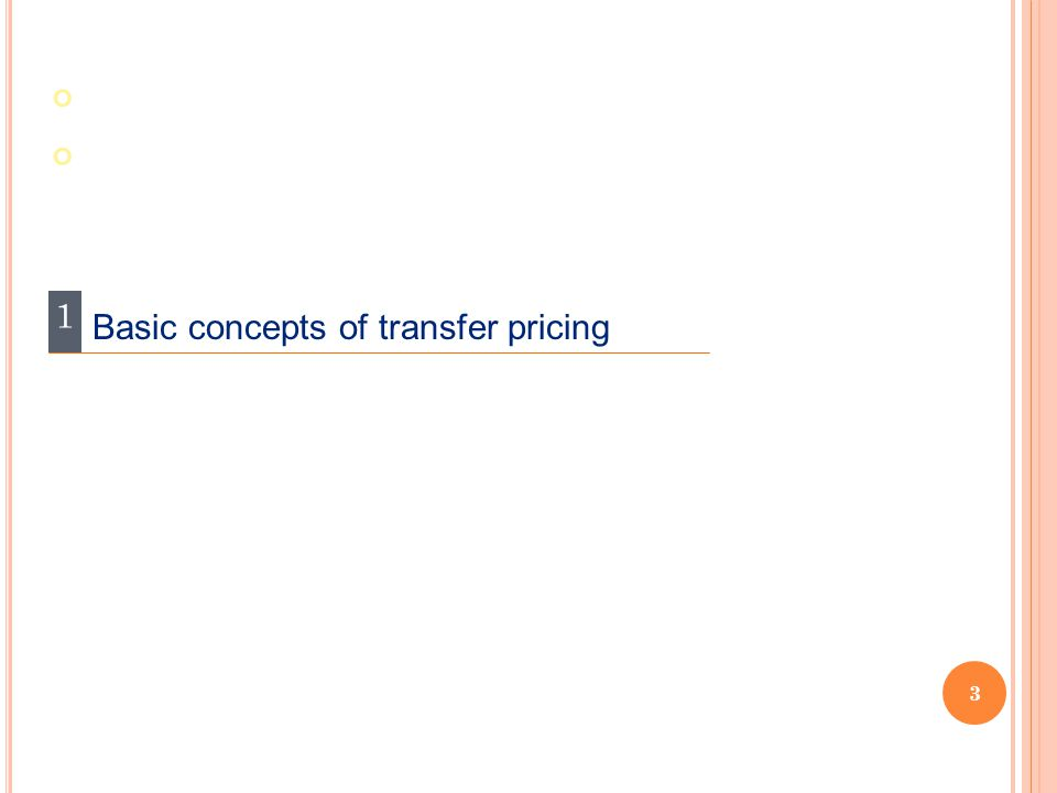 1 Basic concepts of transfer pricing