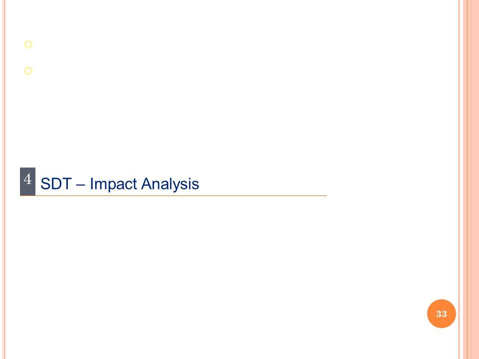 4 SDT – Impact Analysis