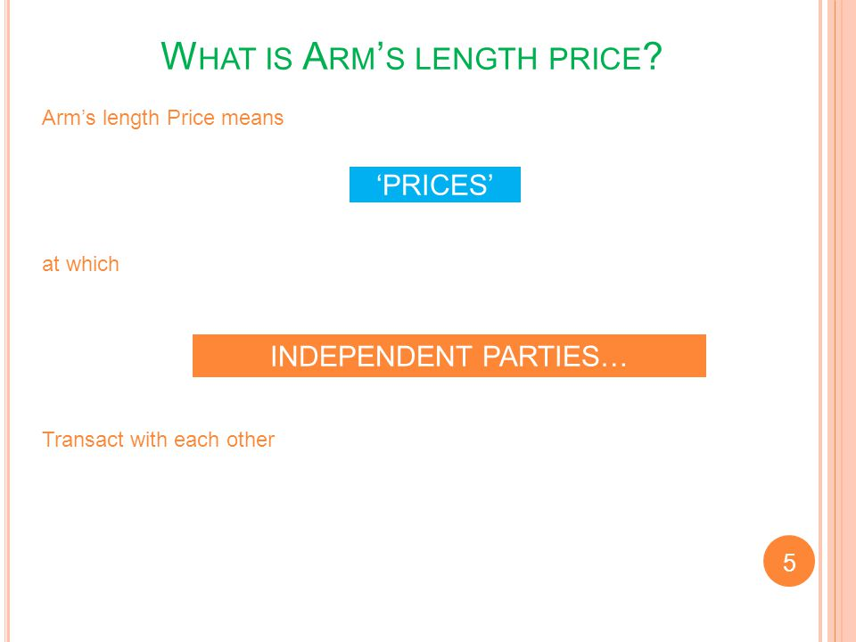 What is Arm's length price