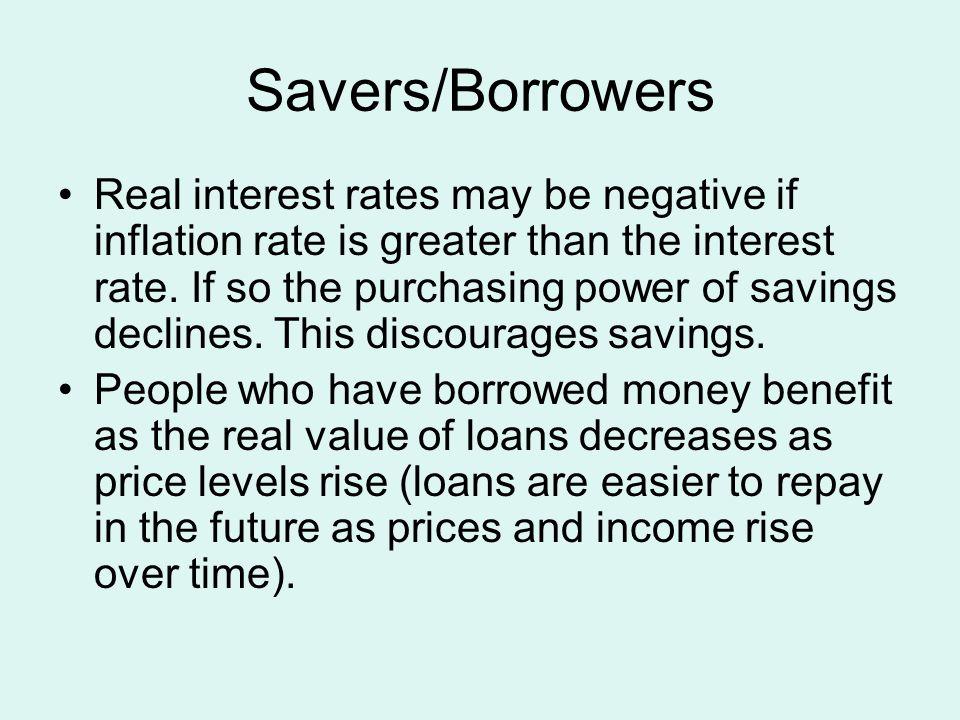Savers/Borrowers