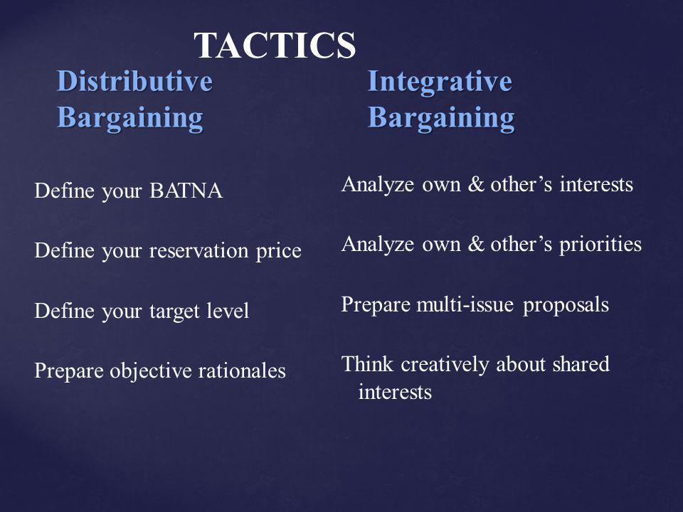 Distributive Integrative Bargaining Bargaining