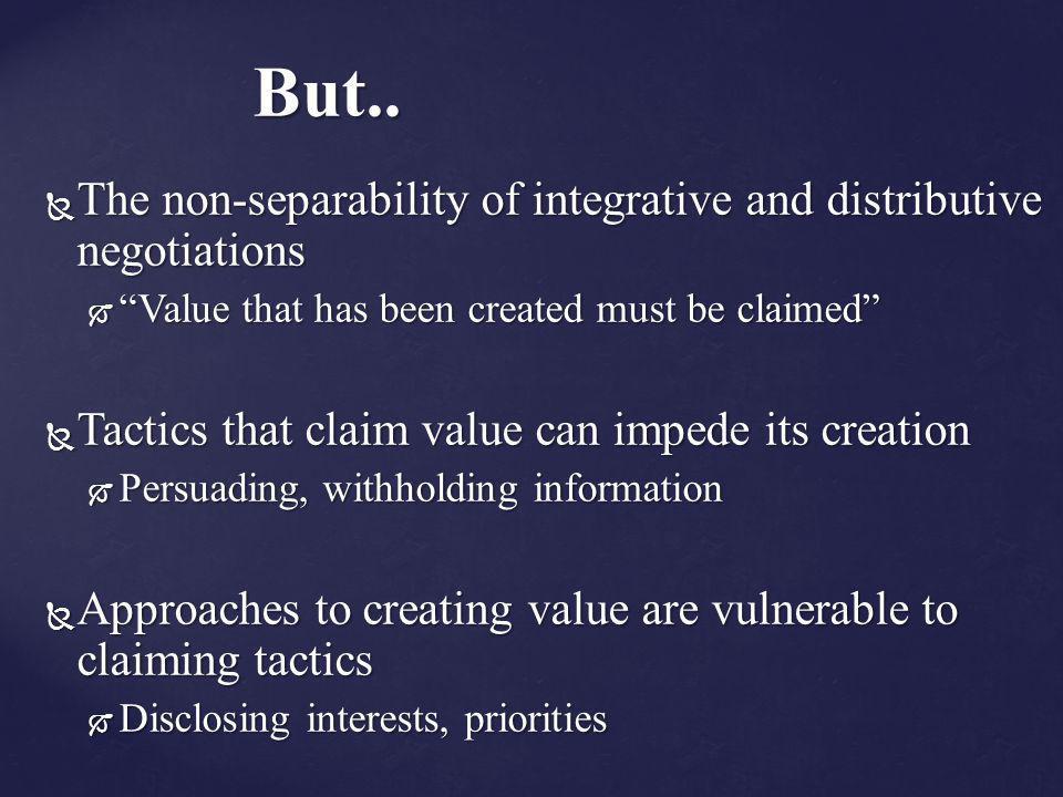 integrative and distributive negotiations