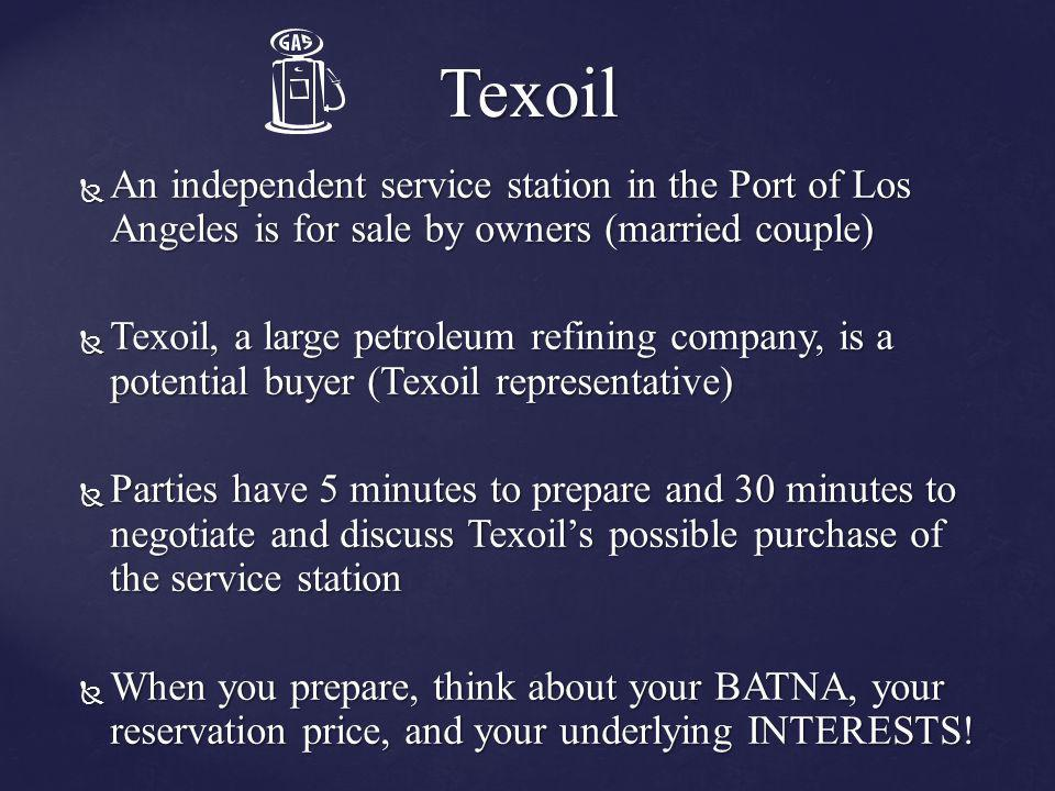 Texoil An independent service station in the Port of Los Angeles is for sale by owners (married couple)