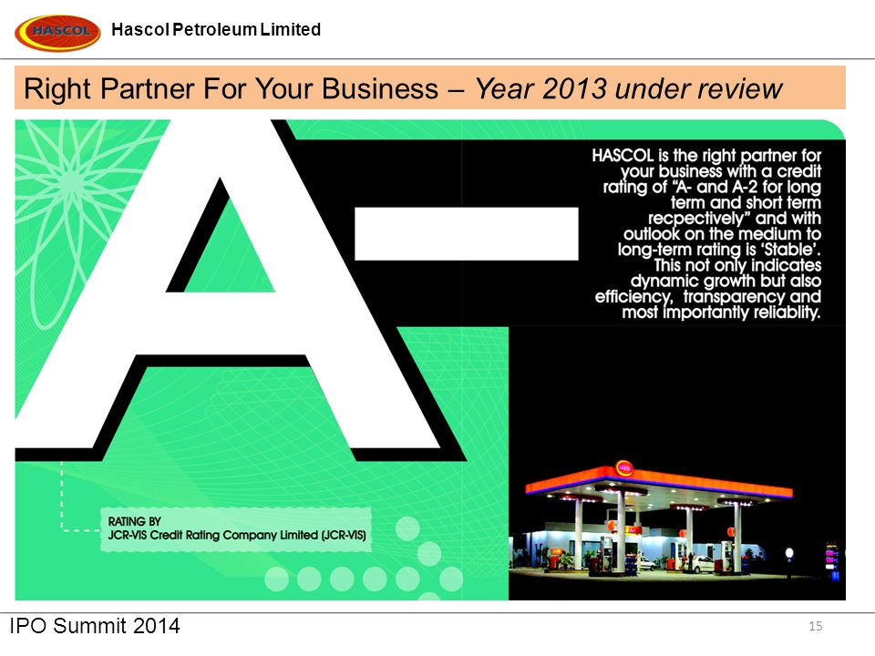 Right Partner For Your Business – Year 2013 under review