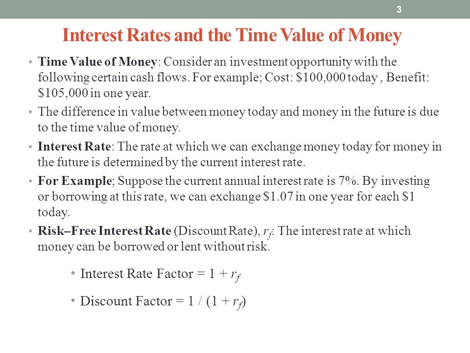 Interest Rates and the Time Value of Money