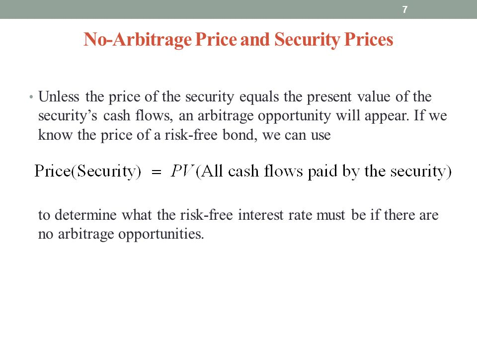 No-Arbitrage Price and Security Prices