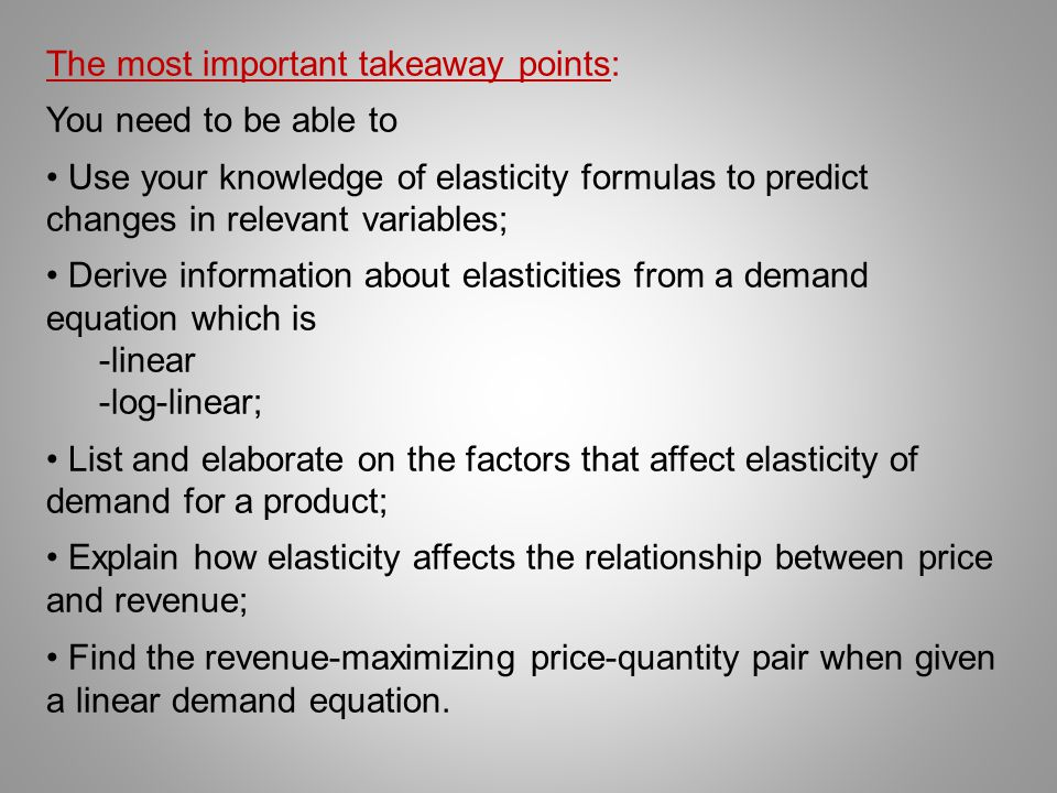 The most important takeaway points: