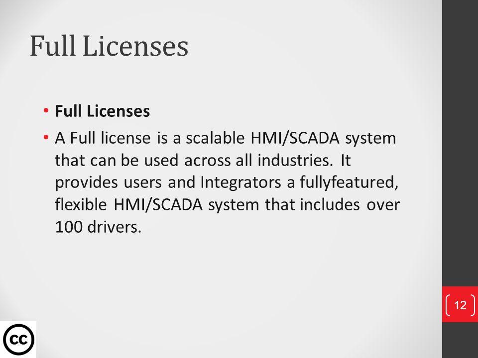 Full Licenses Full Licenses