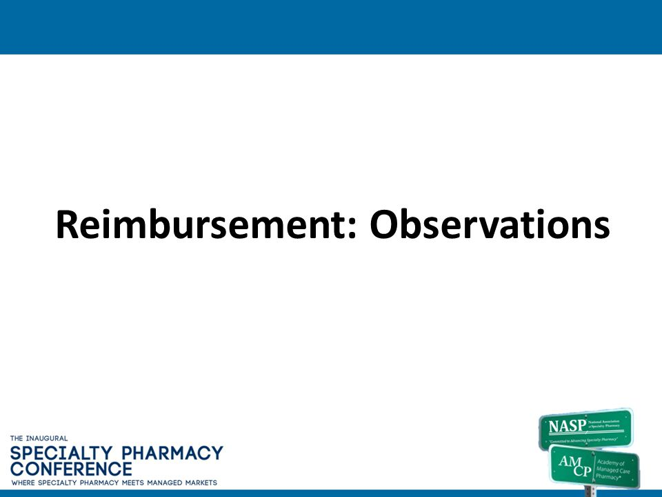 Reimbursement: Observations