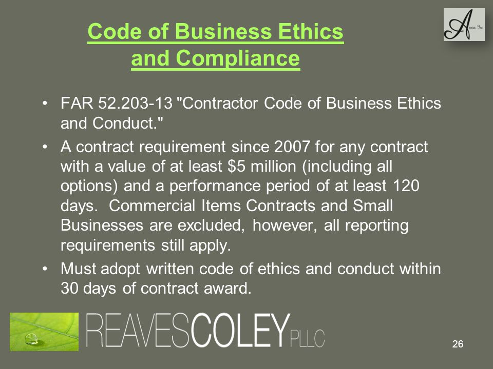 Code of Business Ethics and Compliance