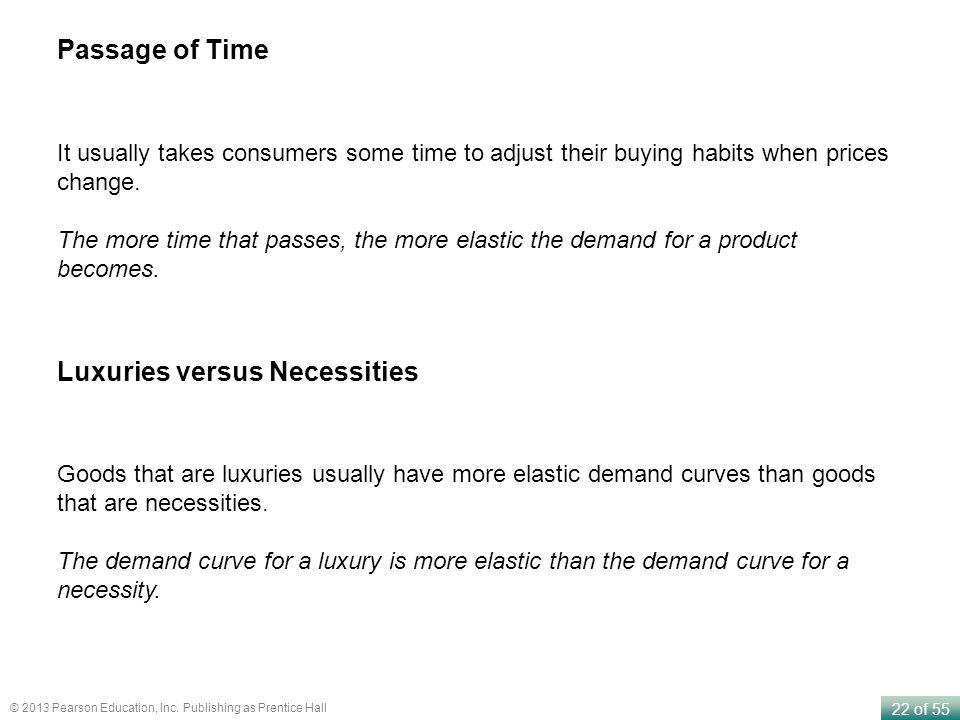Luxuries versus Necessities