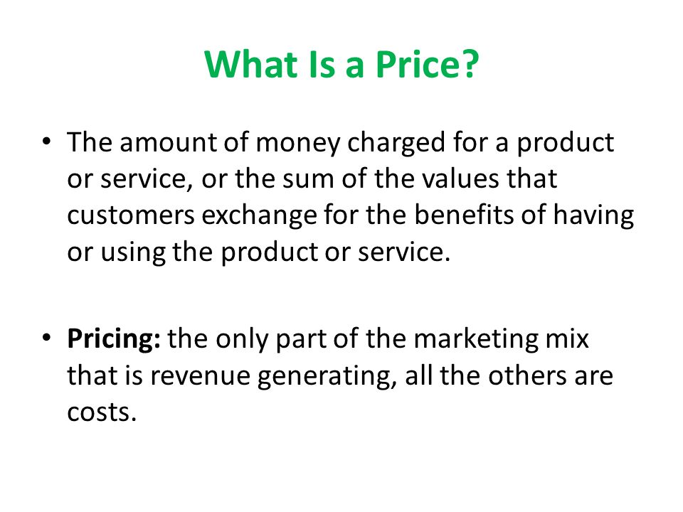 What Is a Price