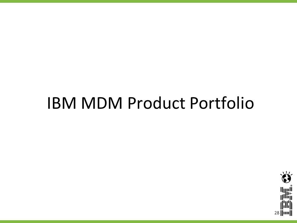 IBM MDM Product Portfolio