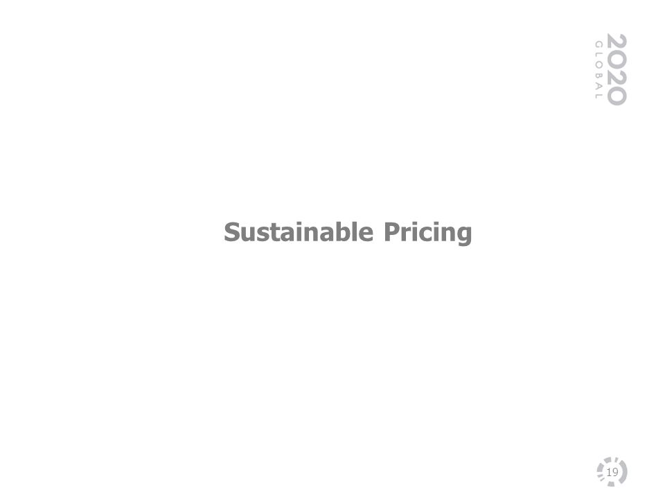 Sustainable Pricing Refer to Information Pack
