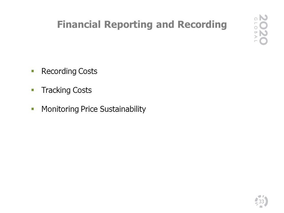 Financial Reporting and Recording