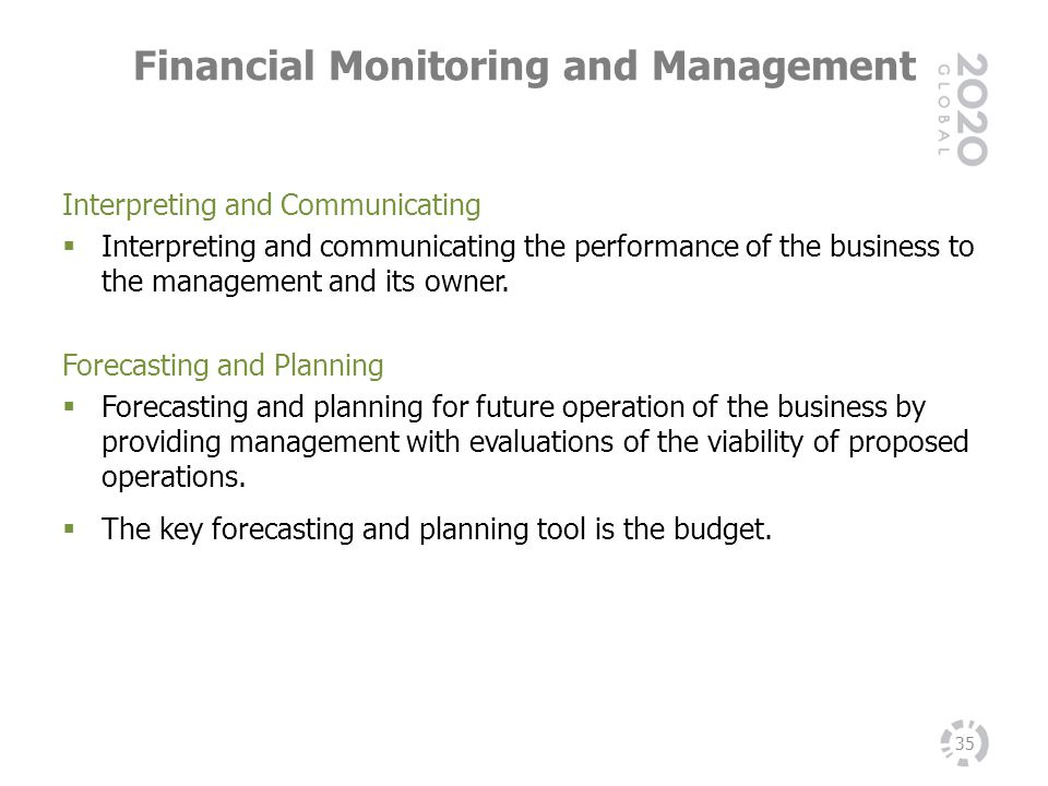 Financial Monitoring and Management