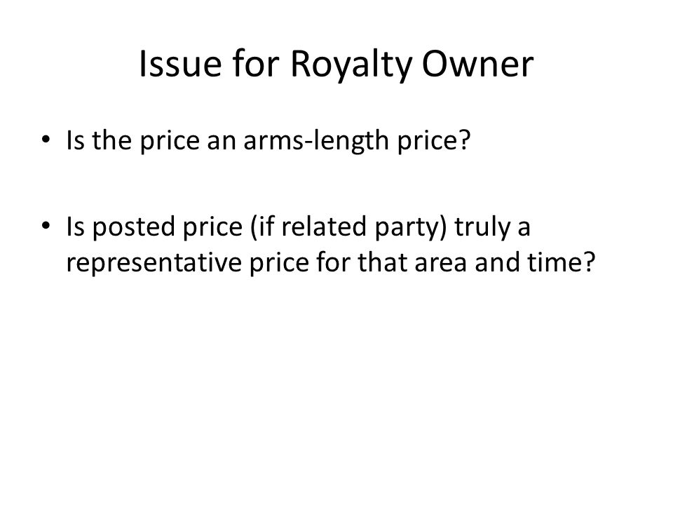 Issue for Royalty Owner