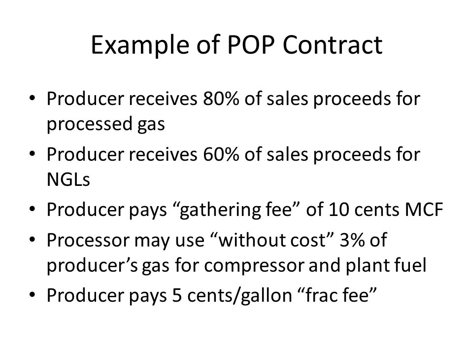 Example of POP Contract