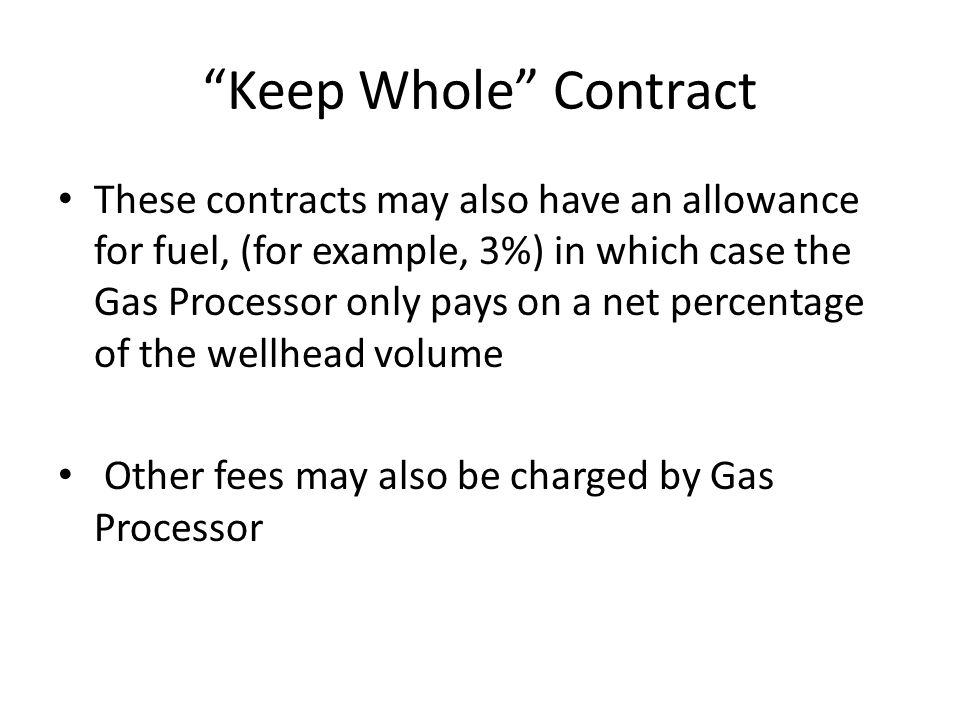 Keep Whole Contract