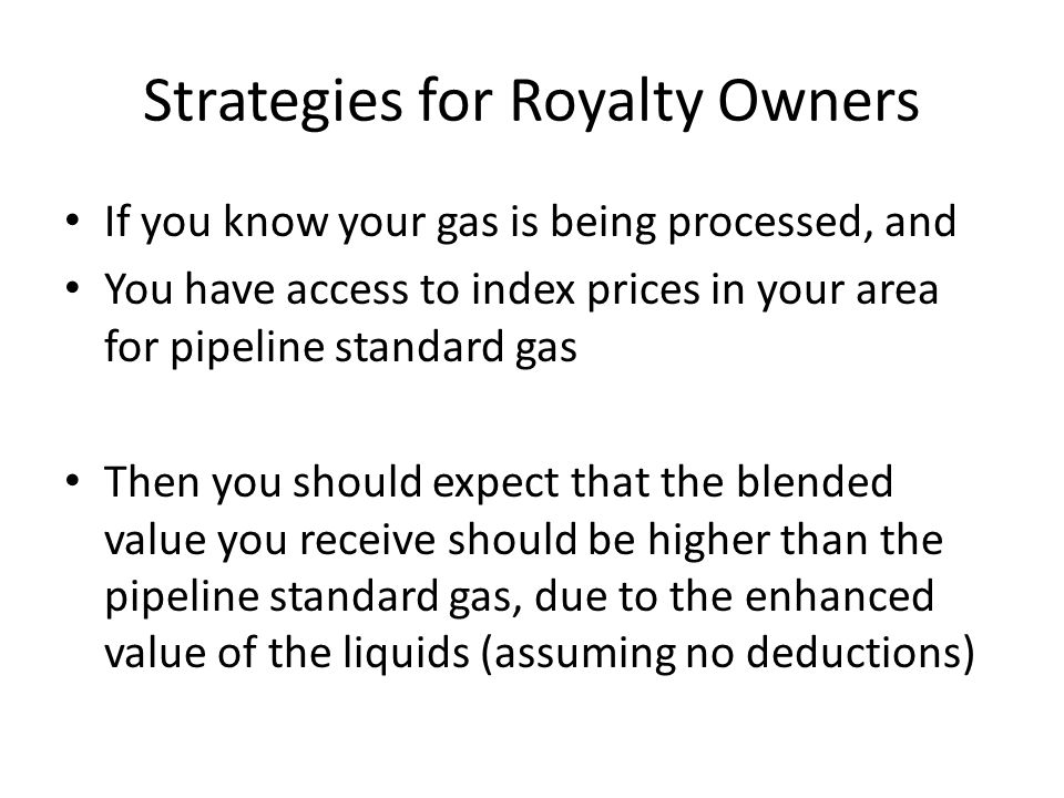 Strategies for Royalty Owners