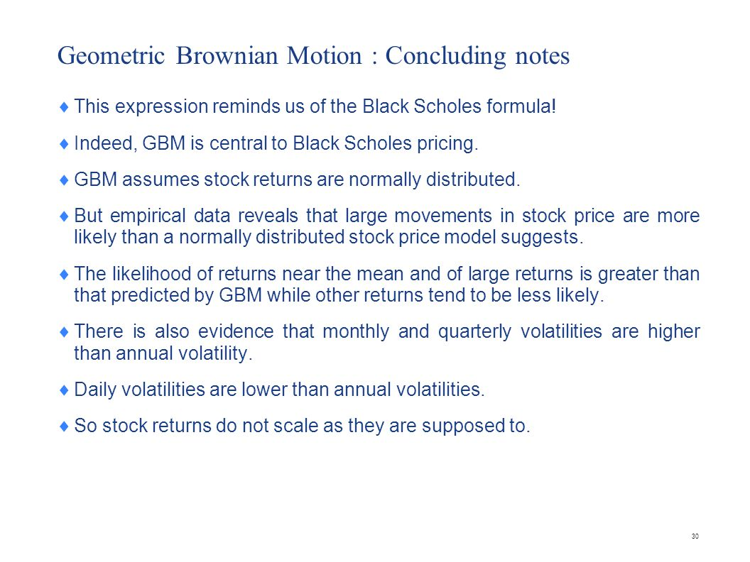 Problem A stock price follows geometric Brownian motion with an expected return of 16% and a volatility of 35%. The current price is $38.