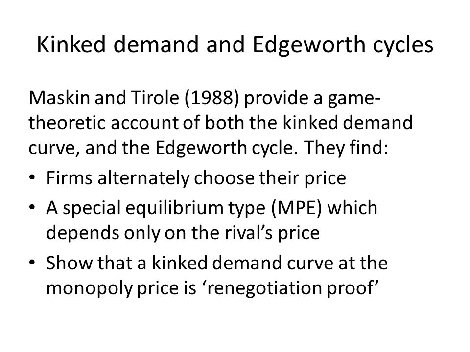 Kinked demand and Edgeworth cycles