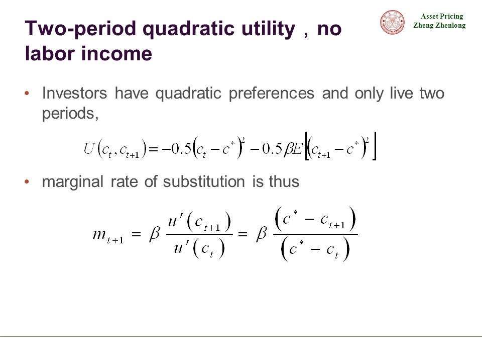 Two-period quadratic utility,no labor income