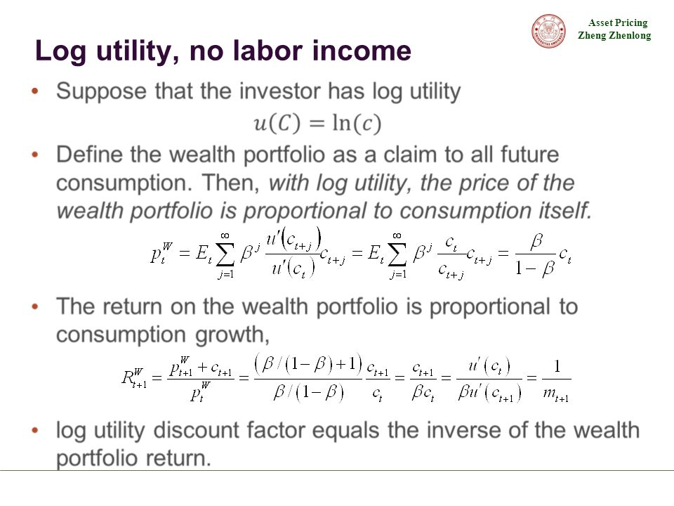 Log utility, no labor income