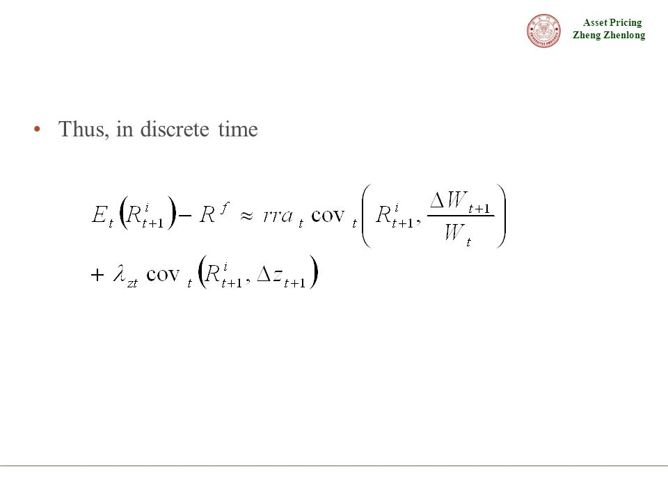 Thus, in discrete time