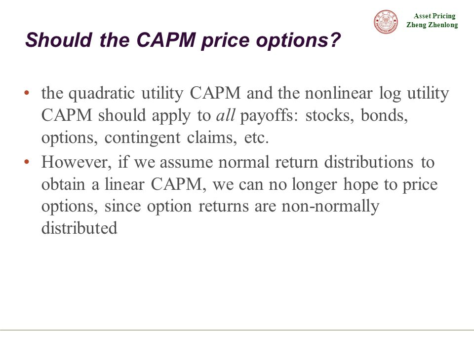 Should the CAPM price options