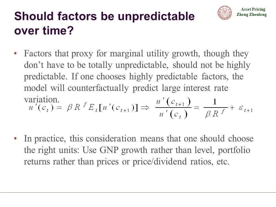 Should factors be unpredictable over time