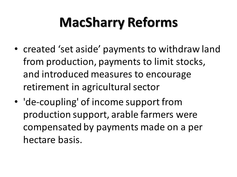 MacSharry Reforms
