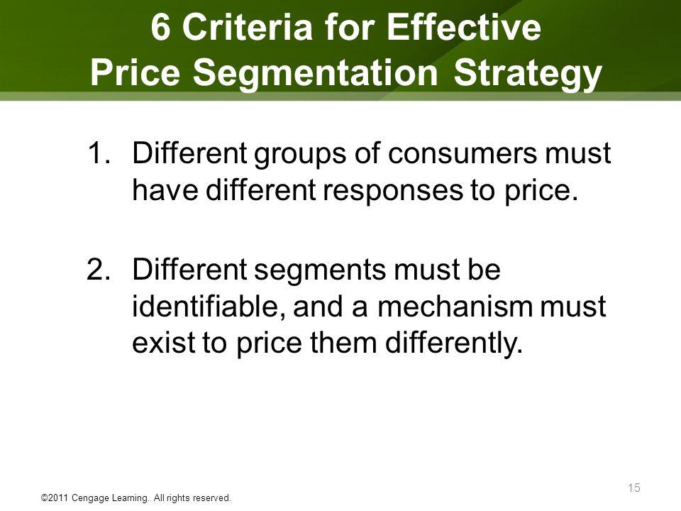 6 Criteria for Effective Price Segmentation Strategy