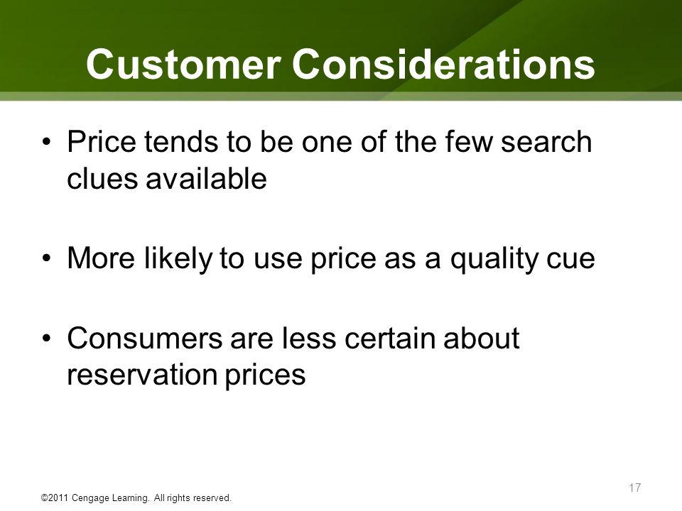 Customer Considerations