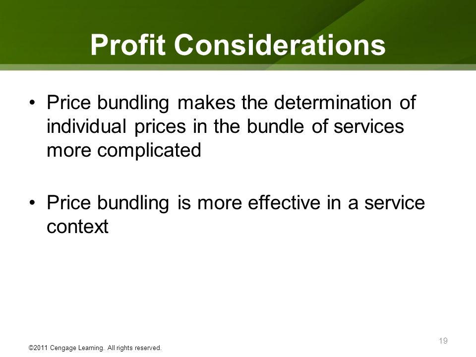 Profit Considerations