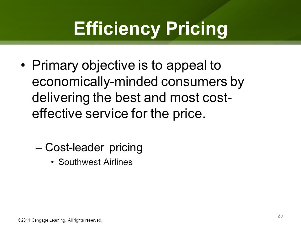 Efficiency Pricing