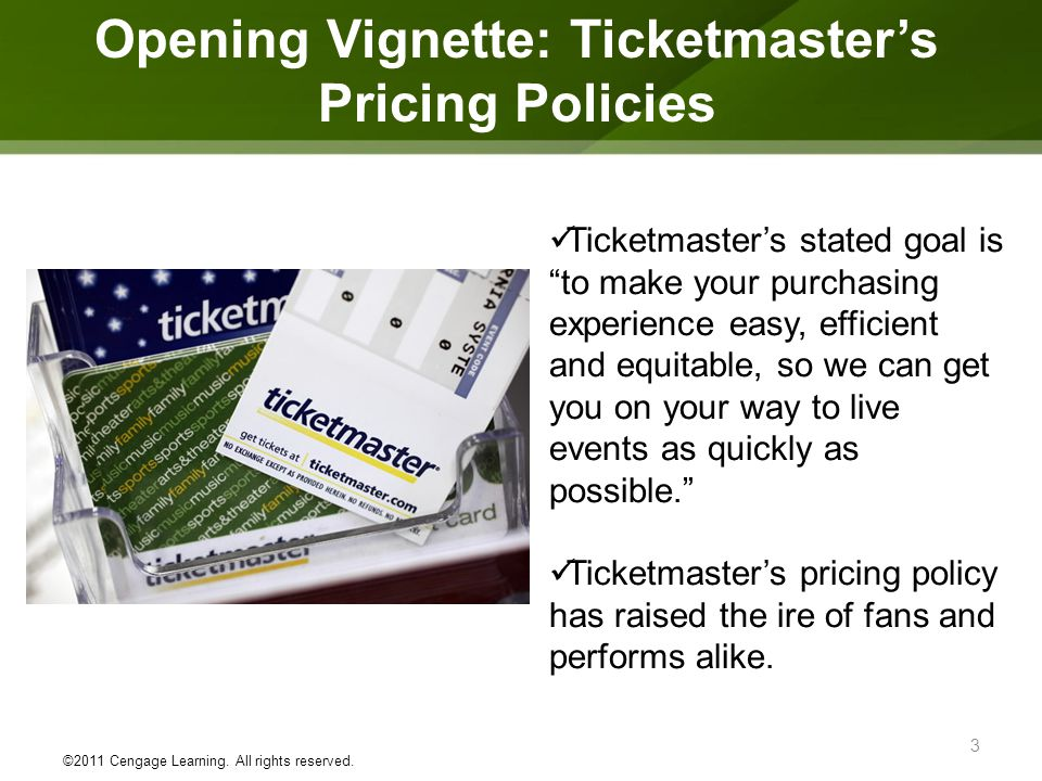 Opening Vignette: Ticketmaster's Pricing Policies