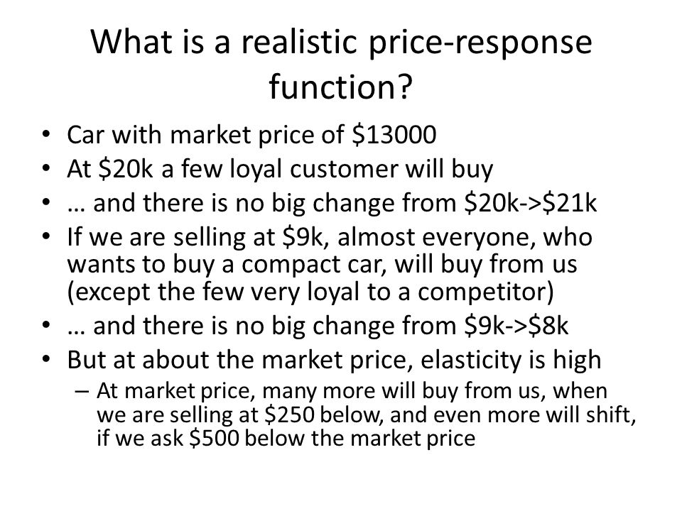 What is a realistic price-response function