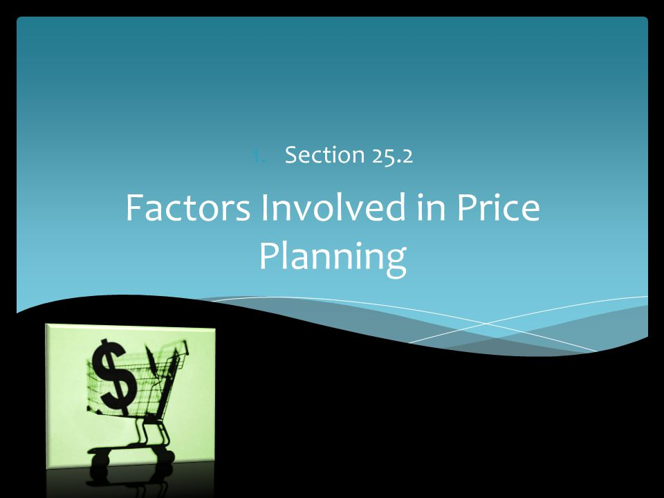 Factors Involved in Price Planning