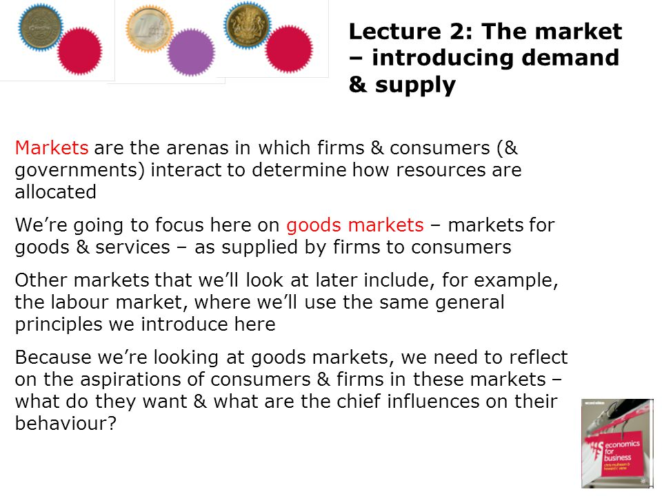 Lecture 2: The market – introducing demand & supply