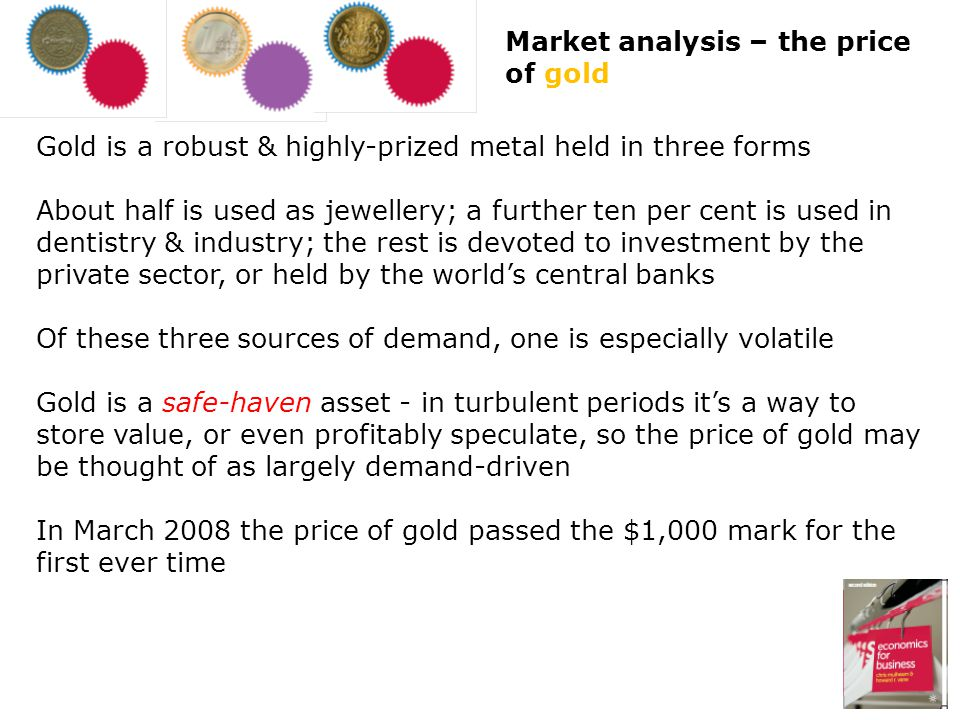 Market analysis – the price of gold