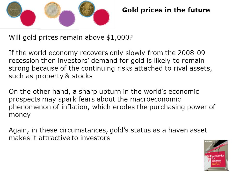 Gold prices in the future