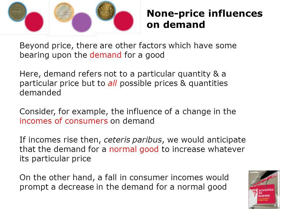 None-price influences on demand