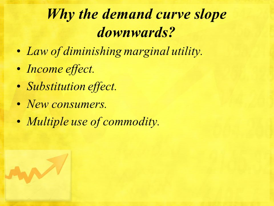 Why the demand curve slope downwards