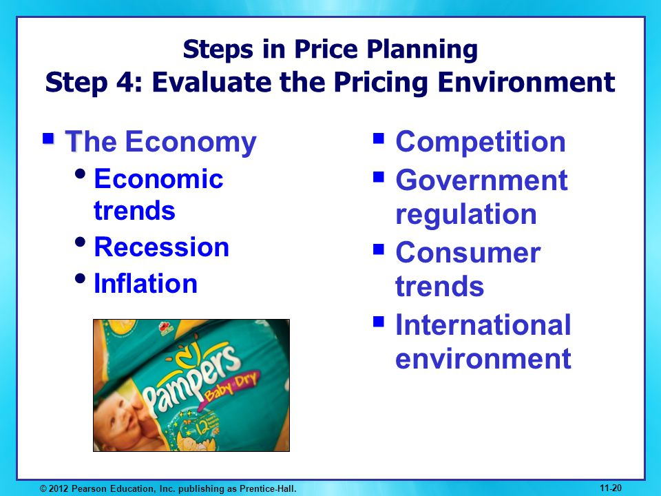Steps in Price Planning Step 4: Evaluate the Pricing Environment
